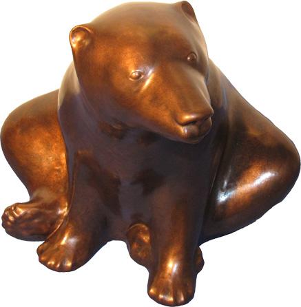 sculture d'un ours