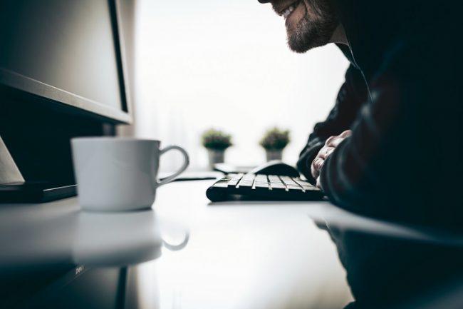 Un pirate informatique volant des informations sur le Web