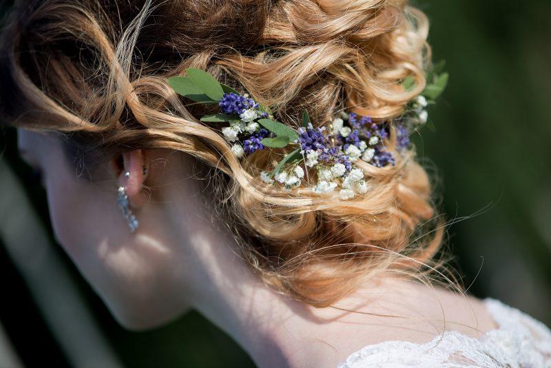 coiffure d'une mariée